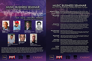 Music & Business Seminar @ The Roxy